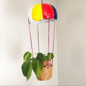 Parachute Hot Air Balloon Hanging Plant Holder